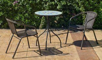conjunto jardín mesa y dos sillas